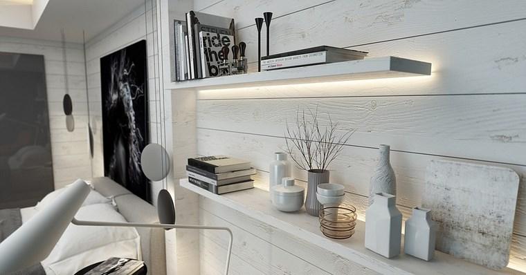 iluminacion led opciones interiores paredes blancas madera ideas