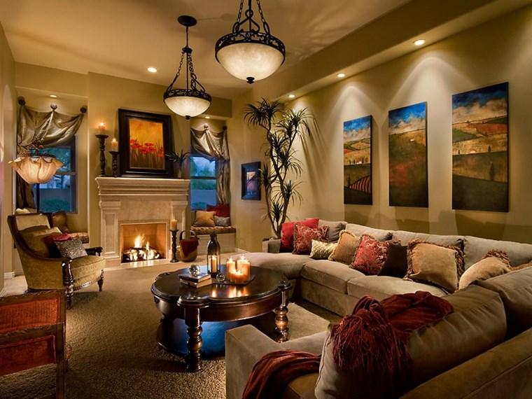 iluminacion led opciones interiores salon beige moderno ideas