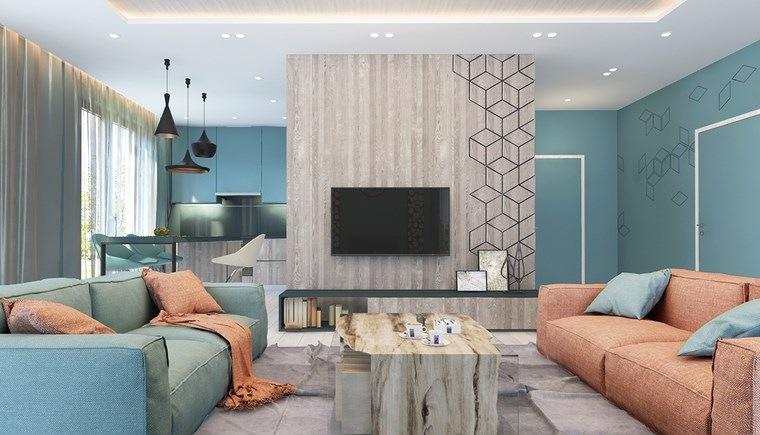 iluminacion led opciones interiores salon colorido ideas