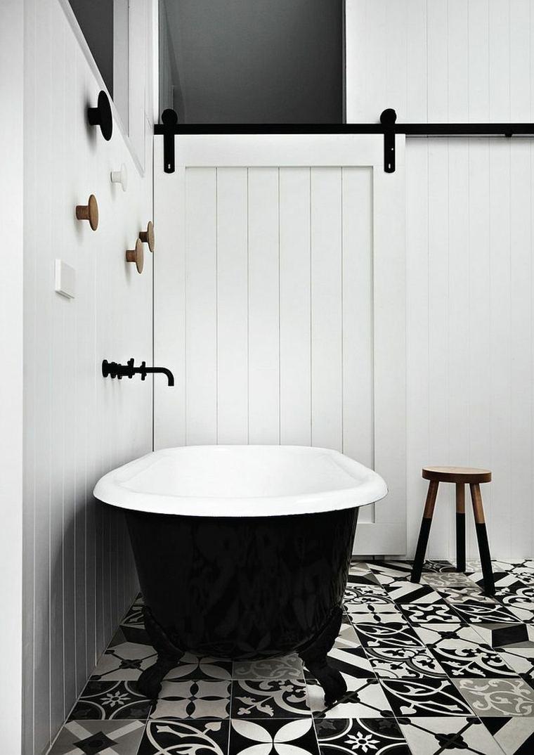 Baño Blanco Suelo Gris:Imagenes impactantes de baños modernos esta temporada -