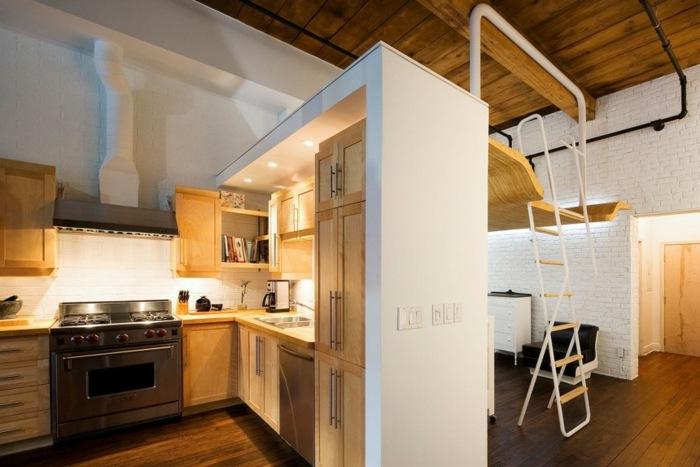 interior cocina cama altillo