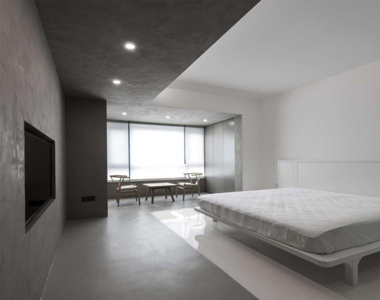 interior dormitorio de estilo minimalista
