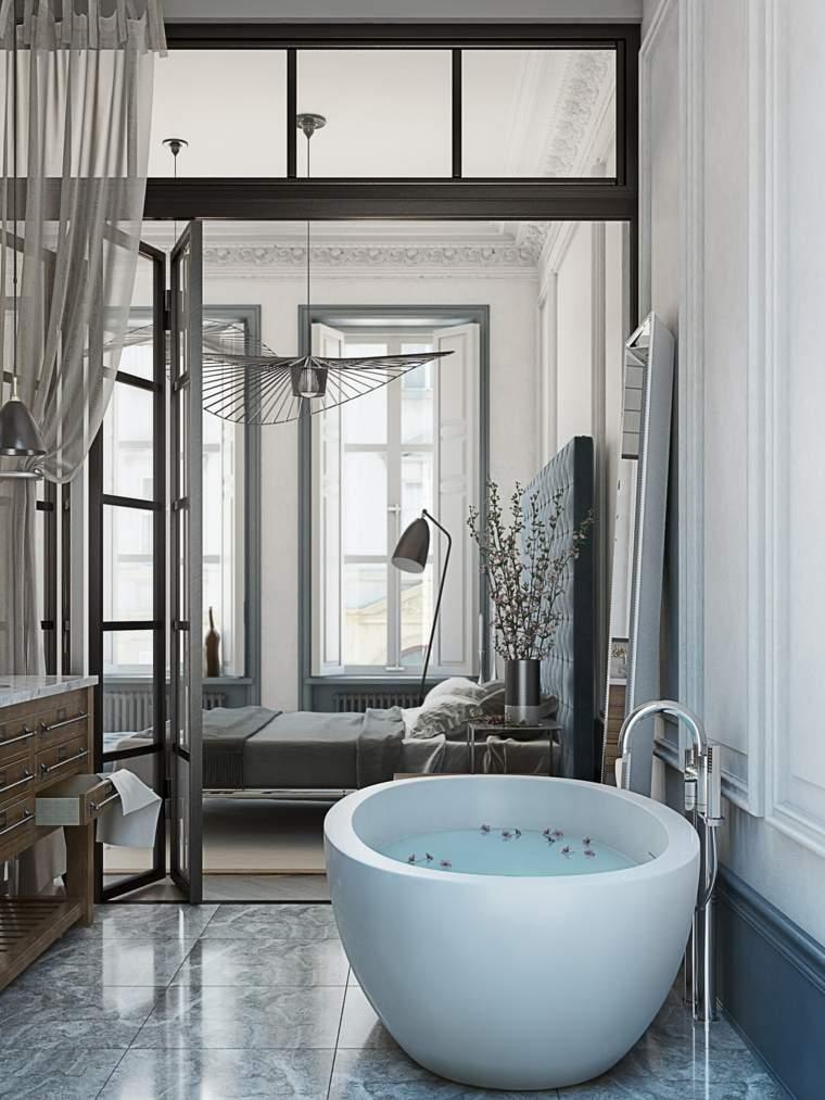 interior baño moderno estilo lujoso