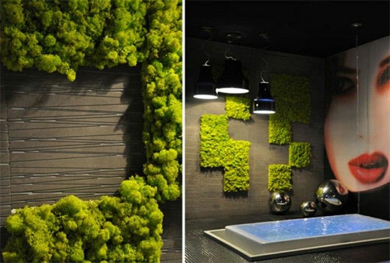 interior cuarto baño moderno verde