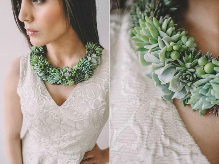 diseño estupendo collar plantas