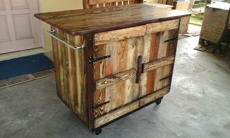 isla de cocina madera palet