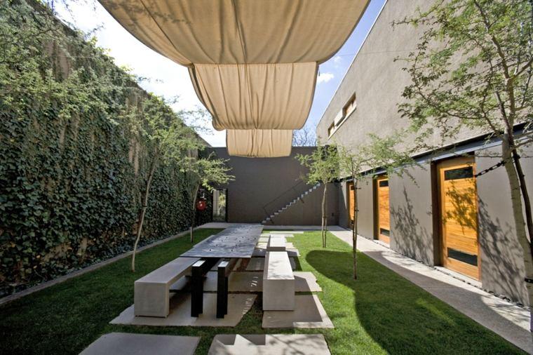 jardín terraza toldo moderno lona
