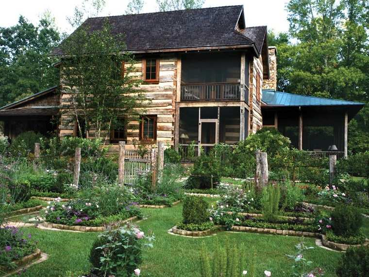 jardin amplio lugares piedras plantas ideas