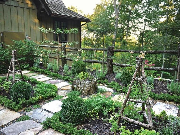 jardin caminos losas plantas opciones ideas