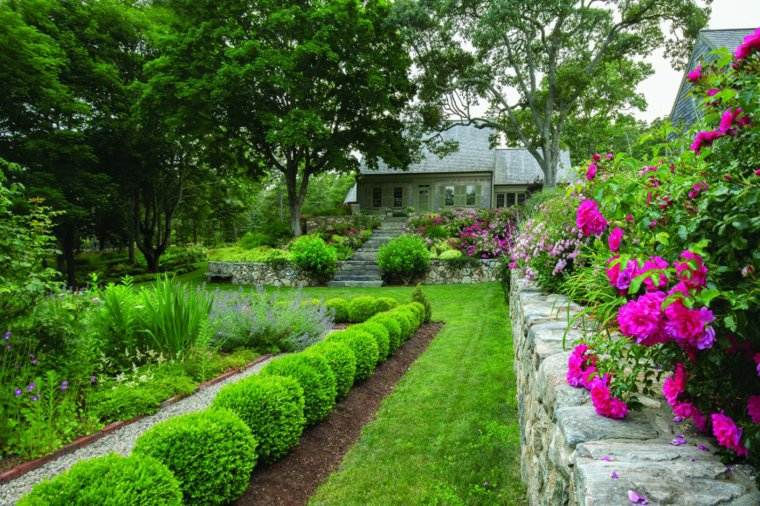 jardin clasico murallas plantas ideas