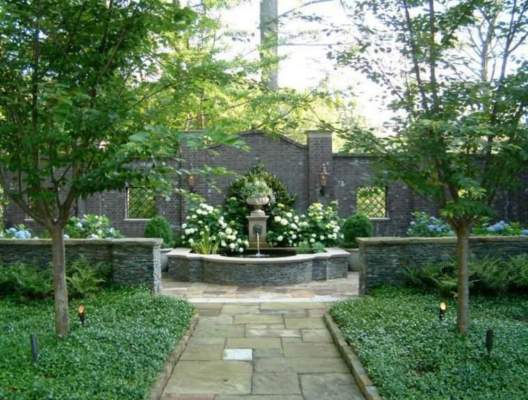 jardin clasico valla alta fuente ideas