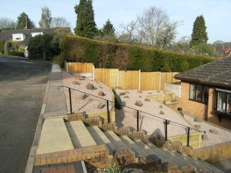 Jardines modernos con terrazas y gradas 50 dise os for Jardines secos modernos