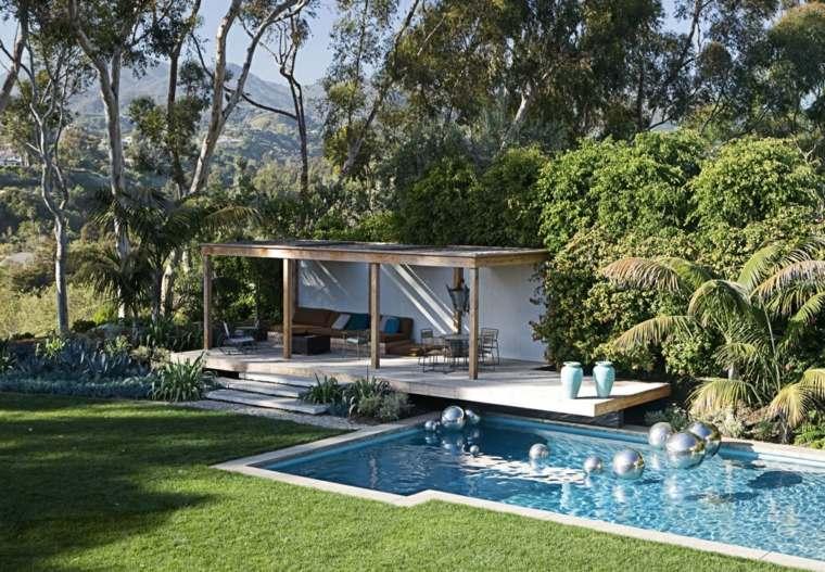 jardin lugar descanso vintage piscina ideas