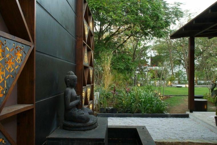 jardin moderno estilo zen