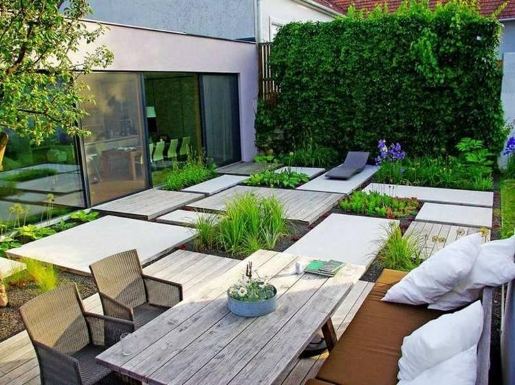 jardin original decoración diseño moderno