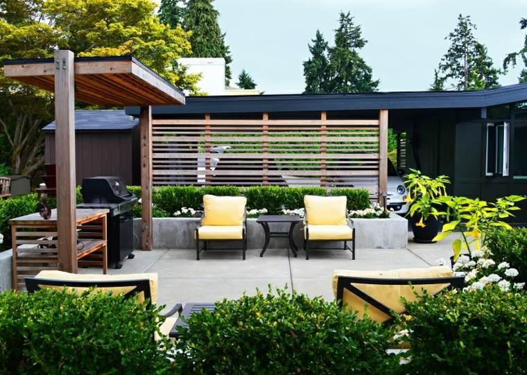 Dise o de jardines 50 ideas frescas y modernas - Jardin con barbacoa ...