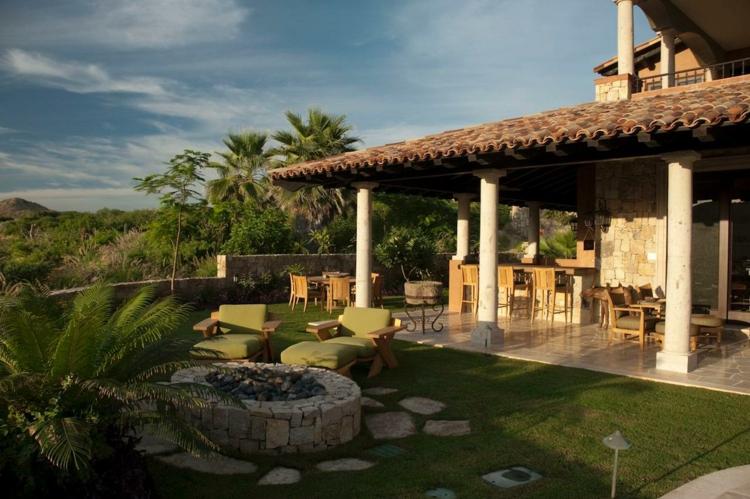 jardin terraza bonito diseño