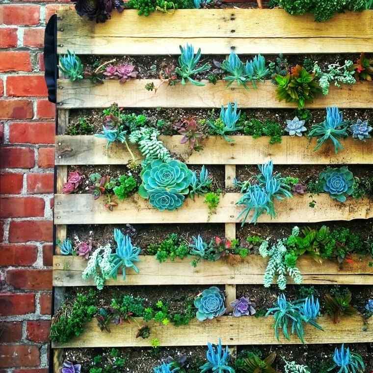 jardin vertical madera palet