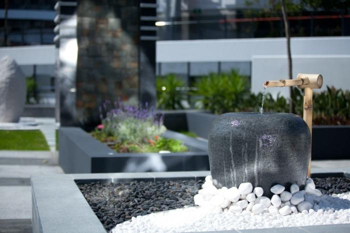 jardin zen detalles muros conceptos minimalista