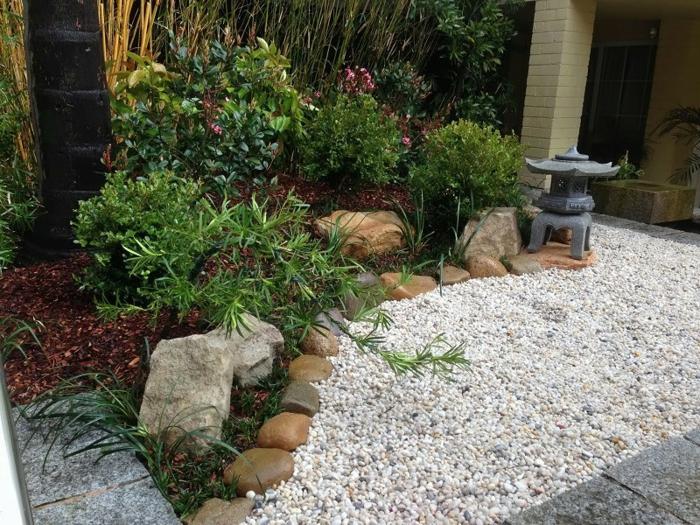 jardin zen detalles rocas modernos rocas