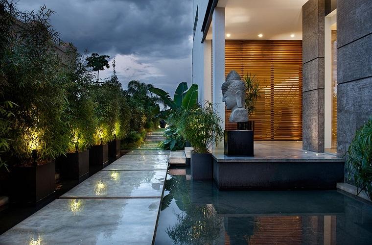 jardin zen opciones fuente agua moderna ideas