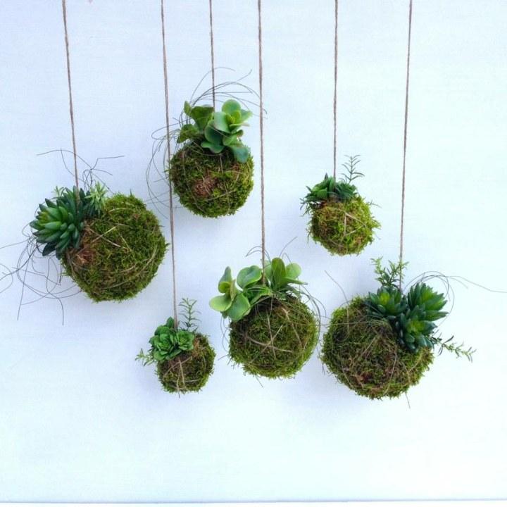 jardines creatividad detalles suelos bolas cuerdas