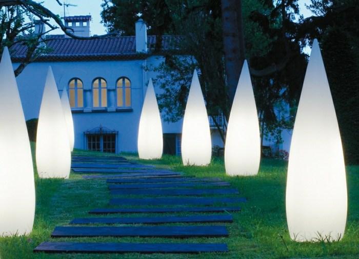 jardines luminarias bulbos salones trapecios