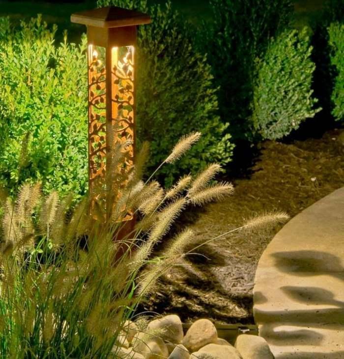 jardines luminarias colores muestras sombreas soldados