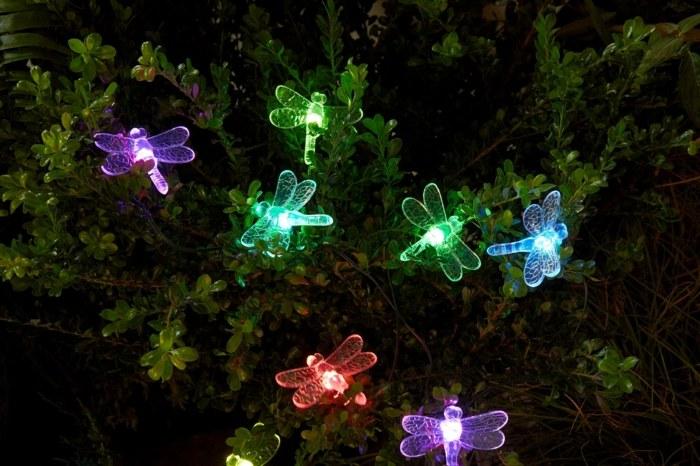 jardines luminarias colores señales animales coloridos