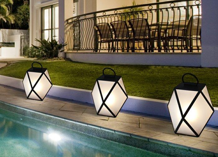 jardines luminarias geometrico cuadros solares