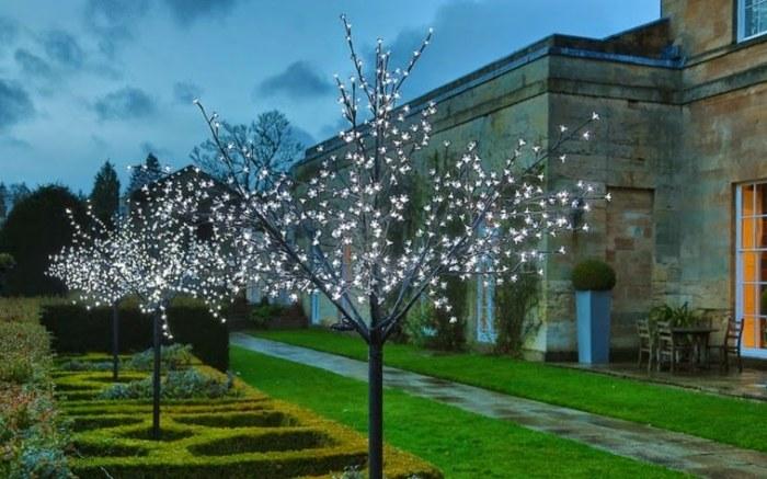 jardines luminarias led arboles luces jardines