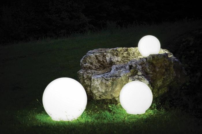 jardines luminarias puentes salidas esferas rocas