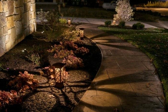jardines luminarias sombras suelos color