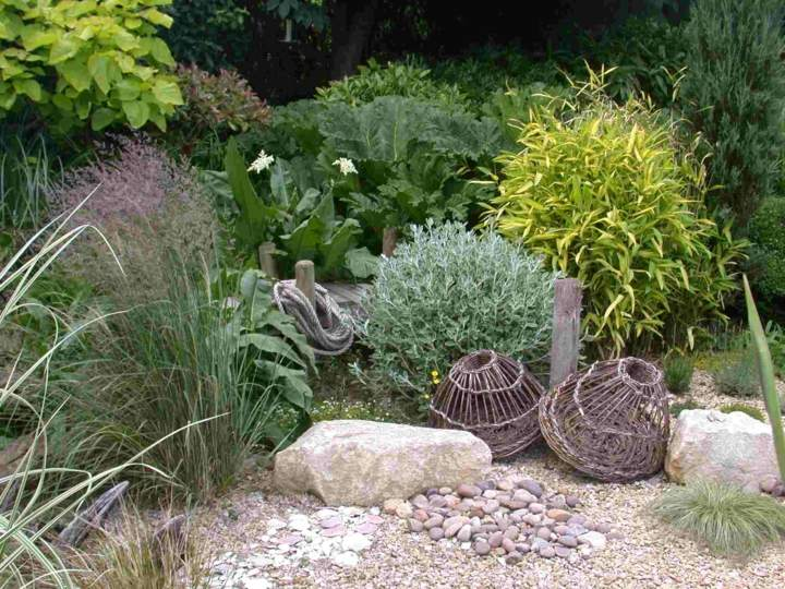 jardines mantenimiento cestas decorativa puertas