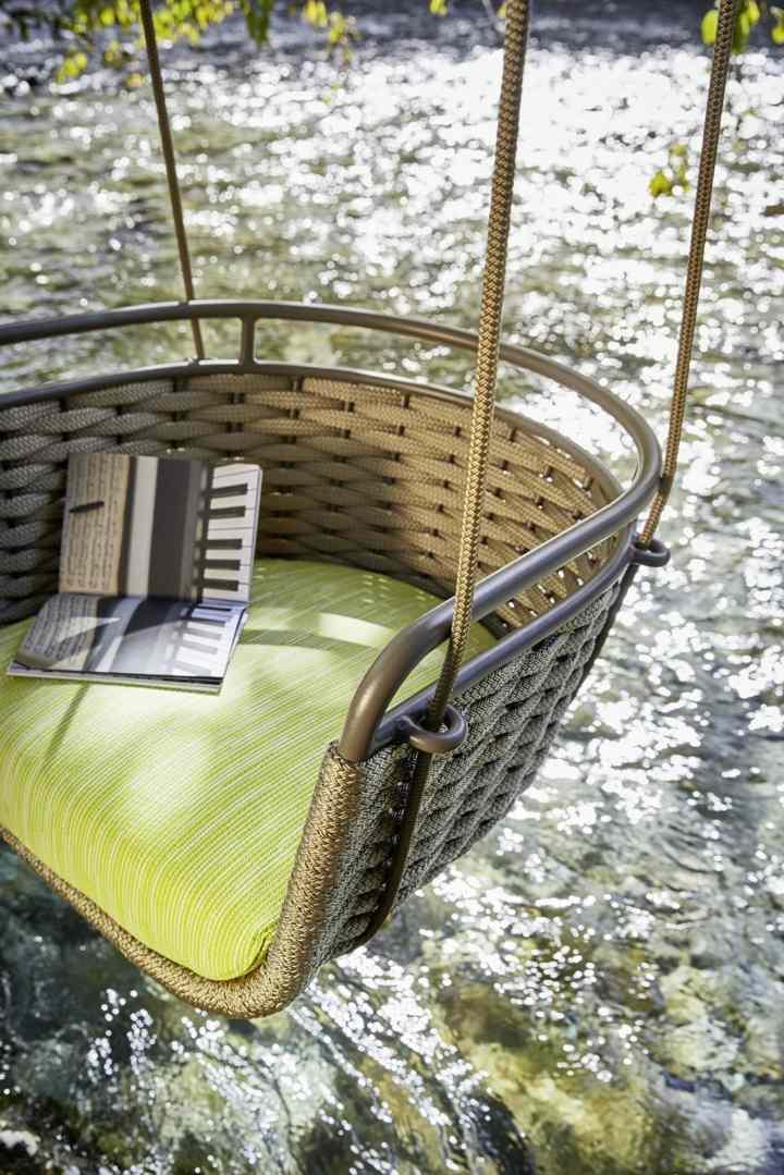 jardines mobiliario moldes alderas marrones