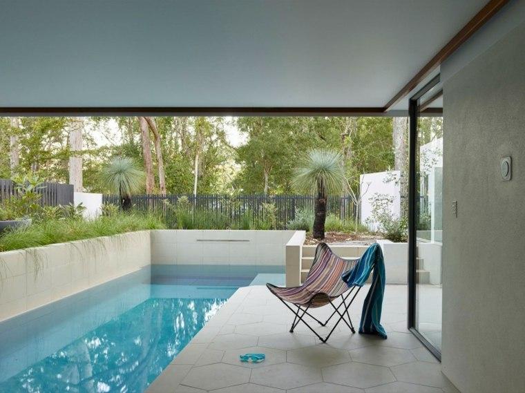 jardines modernos con piscina abierto cerrado ideas