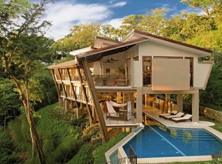 jardines modernos con piscina casa forma moderna ideas