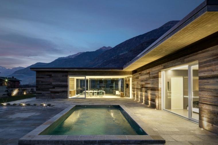 jardines modernos con piscina pequena diseno ideas