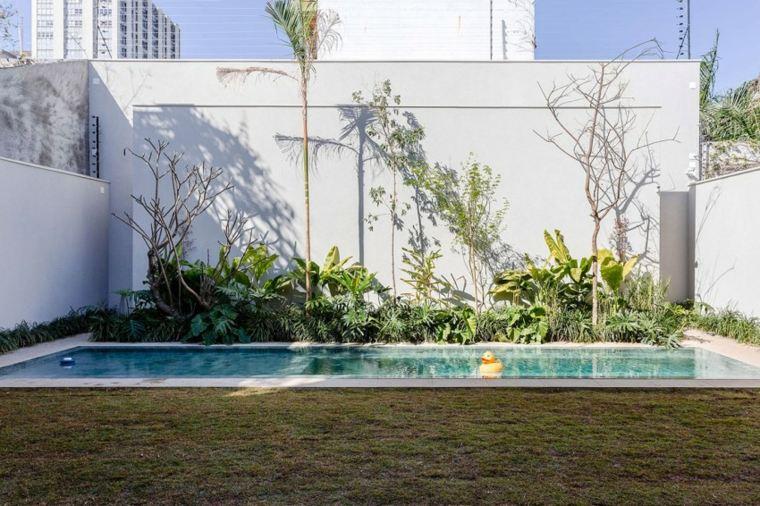 jardines modernos con piscina plantas jardin pequena ideas