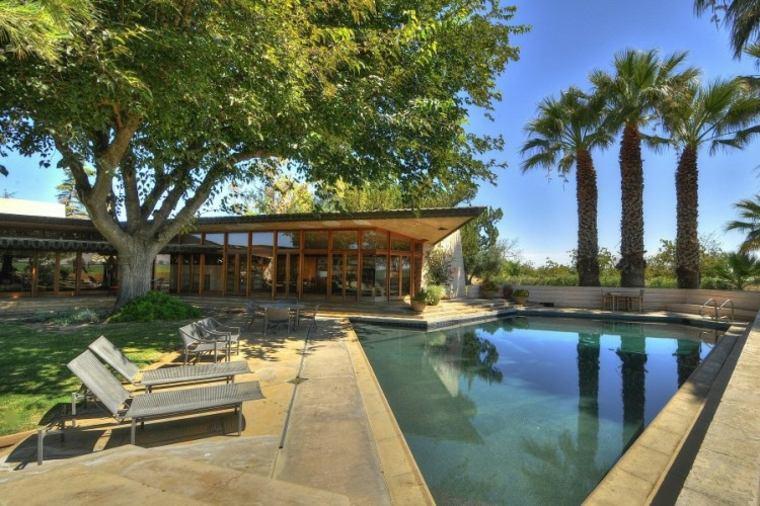 jardines modernos piscina atractivo diseno ideas