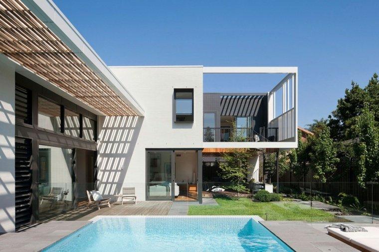 jardines modernos piscina cuadrado pequeno ideas