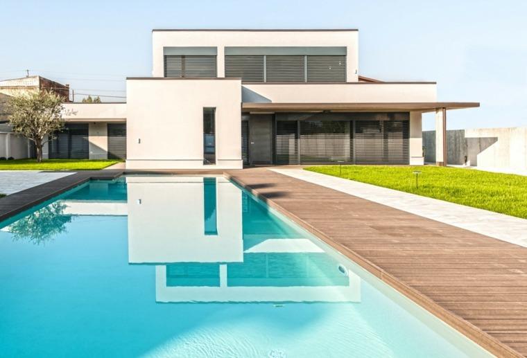 Jardines modernos con piscina 50 dise os radiantes - Diseno jardines modernos ...