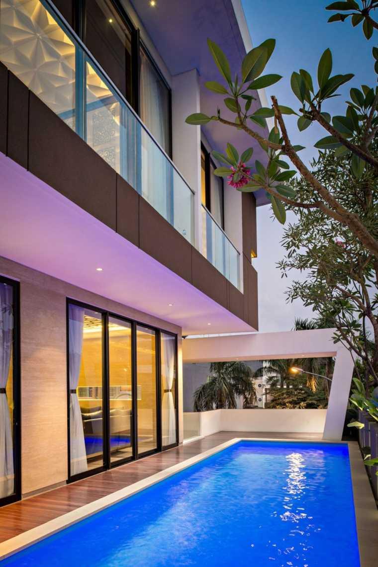 jardines modernos piscina estrecho ideas