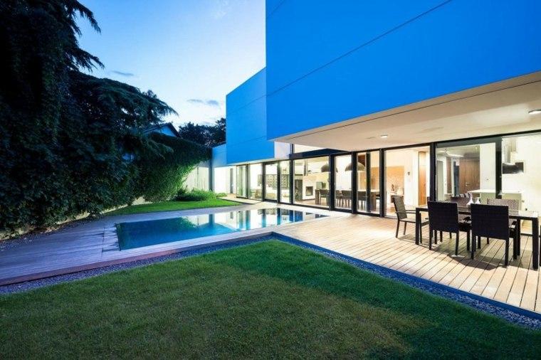 jardines modernos piscina lugar comidas ideas