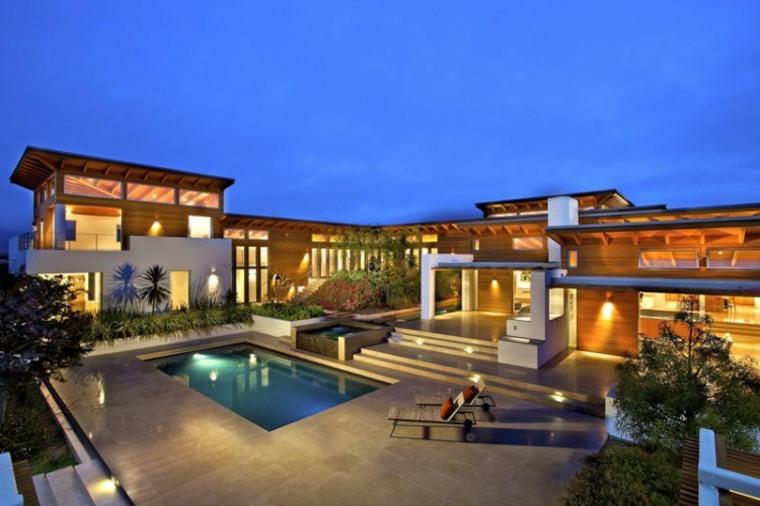 jardines modernos piscina residencia lujosa ideas