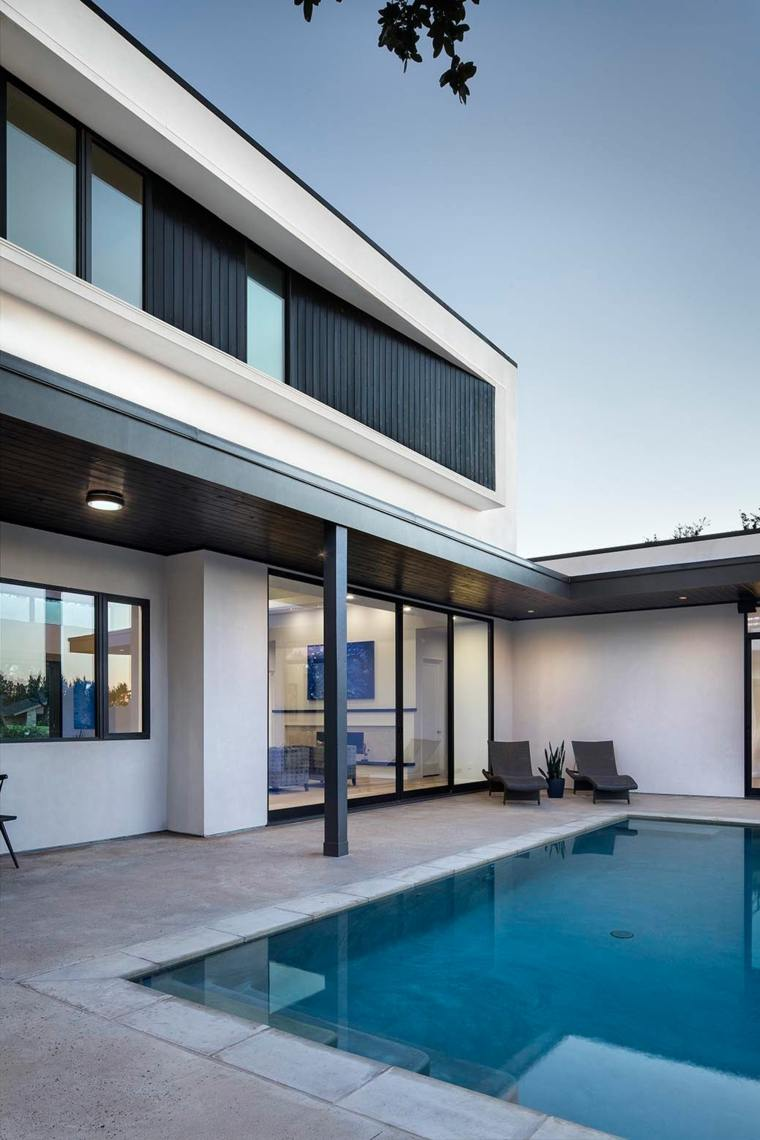 jardines modernos piscina simple original ideas