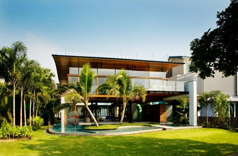 jardines modernos piscina tropical ideas