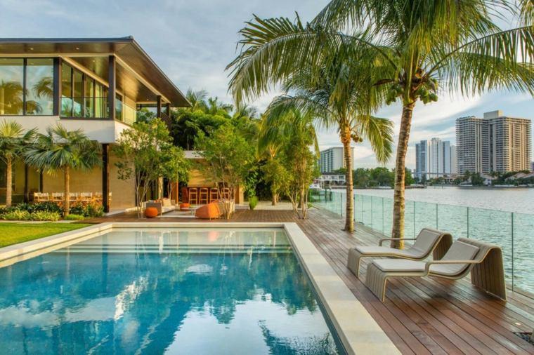 jardines modernos piscina vistas ciudad ideas