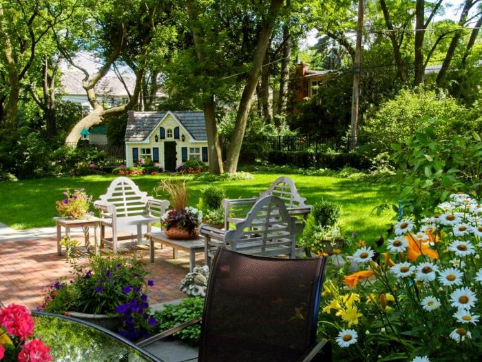 primavera jardines estilos concepto madera