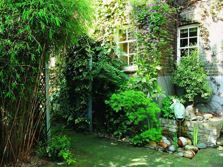 jardines rusticos arco plantas trepadoras ideas
